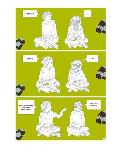 Qu'est devenu Anselme ? un livre d'Olivier Moulard, une fable graphique publiée aux éditions le lion qui parle.